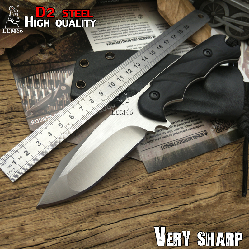 LCM66 hunting knife Tactical Small Fixed Knives D2 steel G10 handle Survival Knife F0X Camping Portable