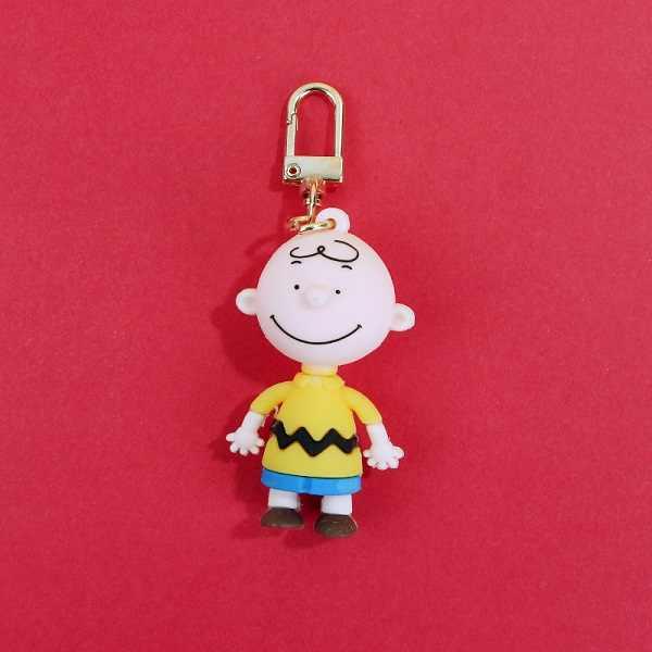 Charlie Brown Chaveiro dos desenhos animados Para Senhoras Saco Carro Criativo Chaveiro Encantos Acessórios Anime Namorado Presentes chaveiro Silicone