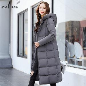 Image 5 - PinkyIsBlack kış ceket kadınlar kapşonlu uzun parkas kış ceket kadın ceket giyim kalınlaşmak aşağı pamuk kapitone ceket