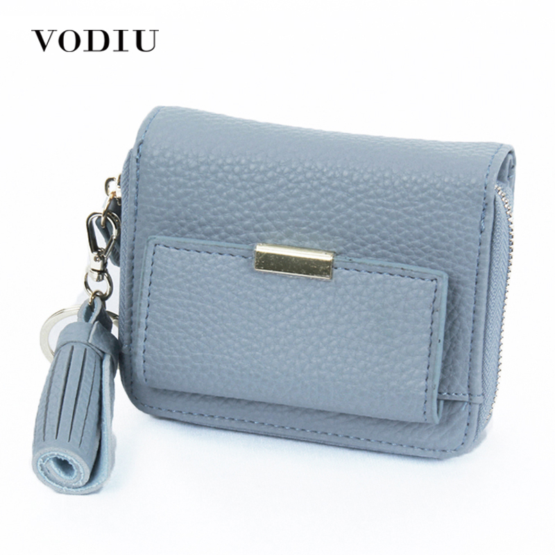 Women Wallets Leather Small Purse Money Clutch Tassel Short Card Coin Holder Female 2017 Fashion High Quality For Girl Zipper high quality zipper coin leather women wallets purse female clutch bag money credit card holder phone bags k108