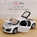 1:32 kids toys AUDI R8 metal toy cars model for children music pull back car miniatures gifts for Children