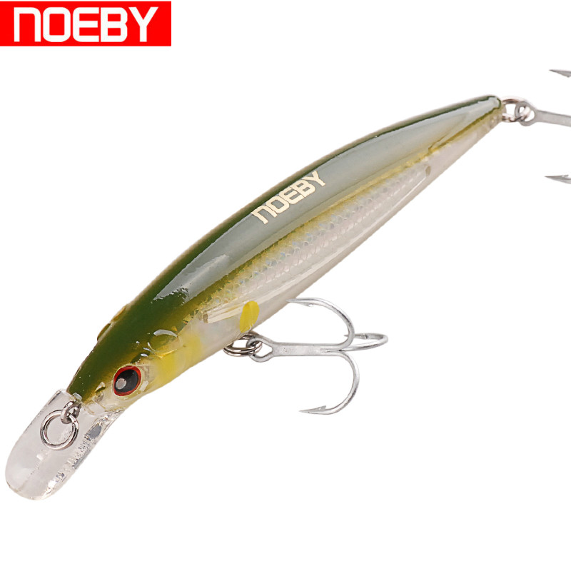 NOEBY 12cm 22g Laser Minnow Fishing Lure Floating 0-1.5m Wobbler Jerkbait Hard Artificial Bait ABS Material for Carp Fish Tackle wldslure 1pc 54g minnow sea fishing crankbait bass hard bait tuna lures wobbler trolling lure treble hook