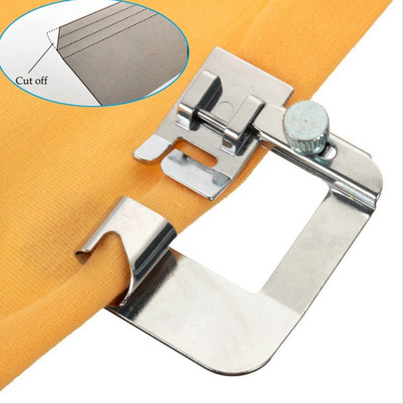 2/8in-8/8in 7 Size Domestic Sewing Machine Parts Hemmer Foot Rolled Hem Presser Foot Holder Quick Change Sewing Suppliers