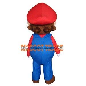 Image 4 - Yetişkin boyutu süper Mario maskot kostüm süslü elbise güzel kardeşler takım elbise cadılar bayramı partisi olay