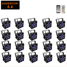 Discount Price 20 Pack 6x18W RGBWA UV 6IN1 Wireless Rechargeable Battery Powered LED PAR Can 64 Led Stage Light Mobile App