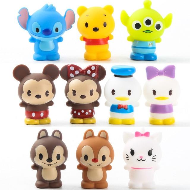 10 Pçs/set Minnie Mouse Mickey Mouse Anime PVC Figuras de Ação Anime Figura Figurinhas Colecionáveis Bonecas Crianças Brinquedos Para crianças