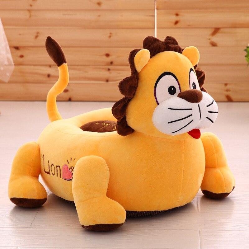 Peluche peluche oreiller dessin animé lion, tigre siège coussin environ 50x45 cm canapé coussin doux tatami coussin jouet décoration de la maison a1569