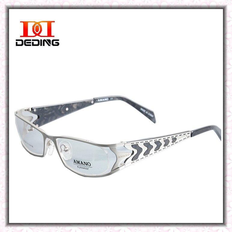 be2b57094 الفولاذ المقاوم للصدأ النظارات إطارات رجل المعادن الكمبيوتر نظارات قصر  النظر بصري واضح عدسة نظارات DD0783