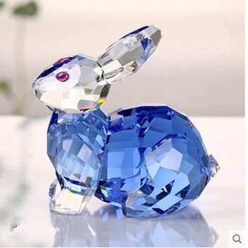 K9 crystal rabbit crafts, cute and beautiful animal zodiac ornaments, home desktop decorations, birthday gifts