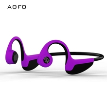 AOFO Wireless Earphone Bone Conduction Outdoor Sports earphone Hands-free with Blue tooth car stereo