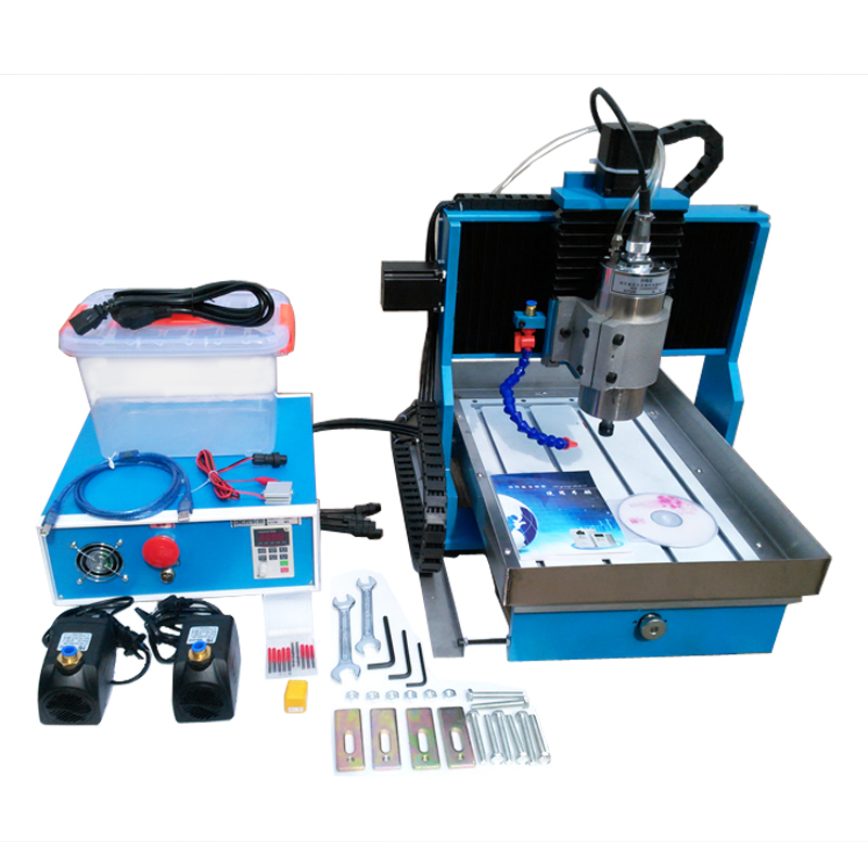 Linear Guide Rail CNC Engraving Machine USB / Parallel port 2.2KW CNC 3040 Router Metal Cutting Machine with Water Tank cnc 1610 with er11 diy cnc engraving machine mini pcb milling machine wood carving machine cnc router cnc1610 best toys gifts