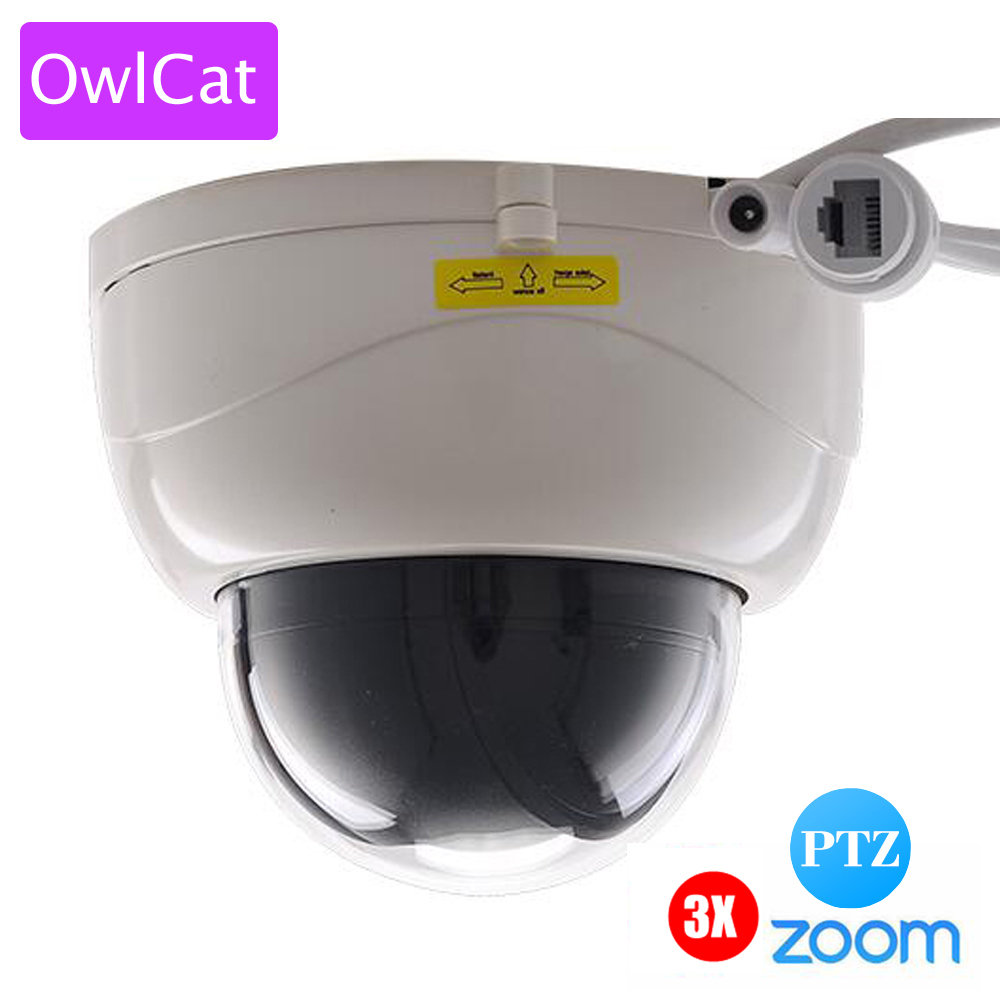 OwlCat SONY322 1080P 2MP Full HD Indoor IR Dome IP Camera PTZ 3X ZOOM AUTO FOCUS Varifocal Night Vision Network P2P CAM ONVIF 4 in 1 ir high speed dome camera ahd tvi cvi cvbs 1080p output ir night vision 150m ptz dome camera with wiper