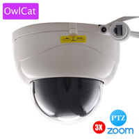 OwlCat SONY322 1080P 2MP Full HD Indoor IR Dome IP Camera PTZ 3X ZOOM AUTO FOCUS Varifocal Night Vision Network P2P CAM ONVIF