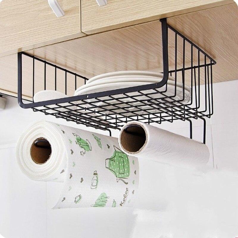Creative Kitchen Supplies Storage Basket Home Daily Necessities Organizers Household Racks Dormitory Storage Artifact XI3191347