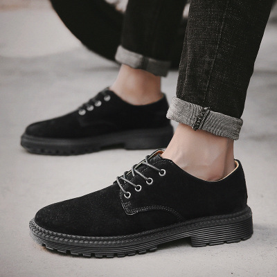 Camurça Moda Botas Dos Com Khaki Retro brown 2018 black Tendência Ferramental Sólida Juventude Sapatos Homens Cor De Cinto Inglaterra Novos qxvPt