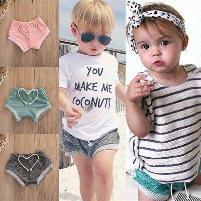 1Pcs Recién nacido Bebé Niño Niñas Algodón Verano Bloomers y PP Pantalones cortos Pantalones 0-4T