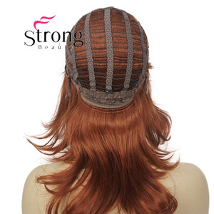 """Image 5 - StrongBeauty 16"""" Long Blonde Fluffy Shag PermaTeased Full synthetic Wig Wigs COLOUR CHOICES"""