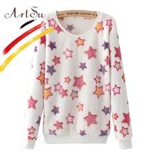 ArtSu Harajuku Cute Women Hoody Sweatshirts 2017 New Autumn Winter Long Sleeve Casual Hoodies Tracksuit Pullovers ASHO10036