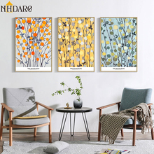 Canvas Print Painting Poster Art Colorful Flowers Chic Abstract Style Wall Pictures for Living Room Home Decoration Giclee