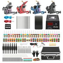 Tattoo machine suit four coil machine shader machine liner machine color machine tattoo machine kits cheap tk456 Tattoo Kits