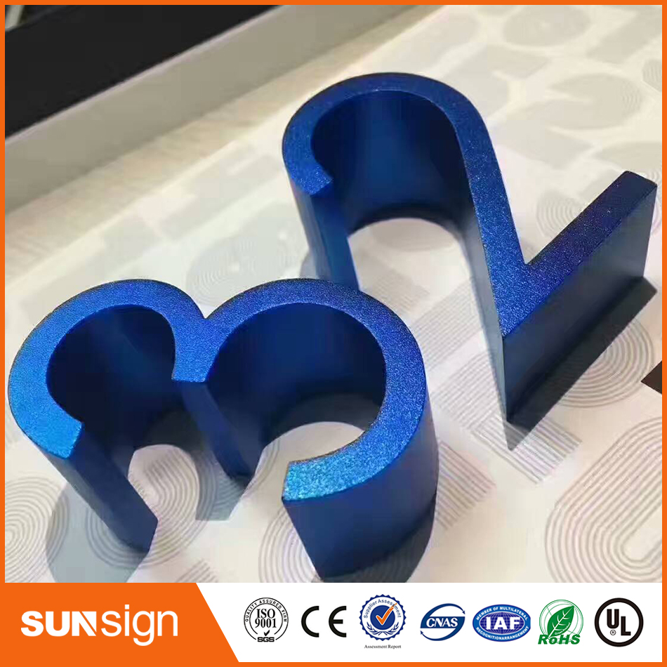 Water Cutting Numbers Aluminum Numbers Decoration