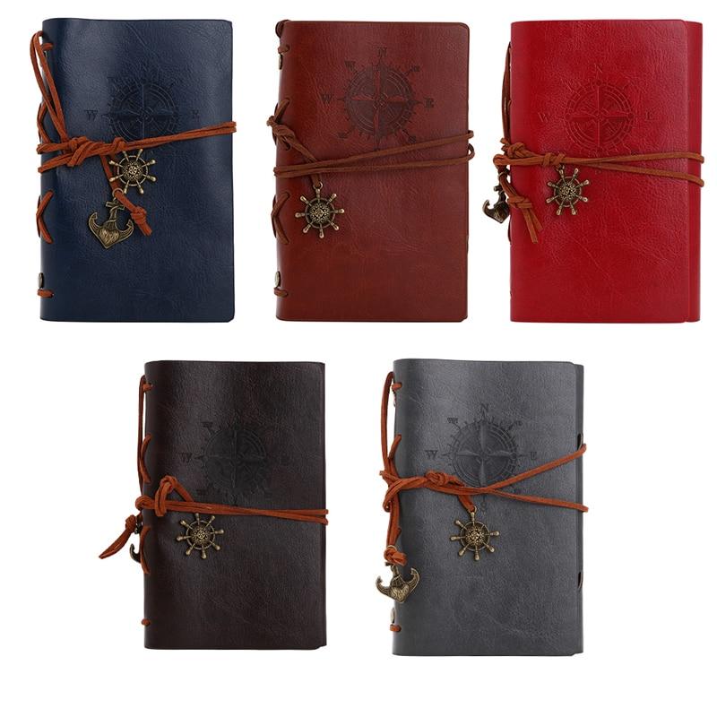 KüHn 1 Stück Neue Weinlese-klassisches Retro Leder Notebook Journal Reisenotiz Blank Tagebuch 2018 Heißes Saling Notebooks & Schreibblöcke