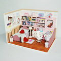 K003 beautiful encounter diy wooden doll house handmade miniature bedroom dollhouse wood best gifts