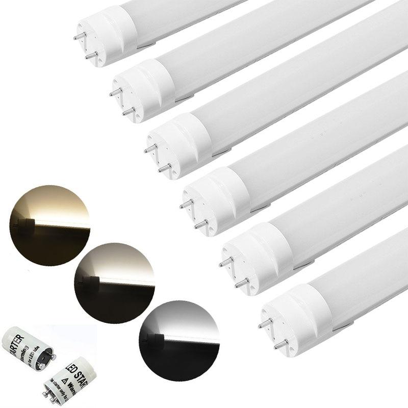 Tube de LED SMD à coquille de lait Maidodo 150 cm 10x T8 G13 24 W 2000LM Tubes de lumière à intensité variable rotatifs
