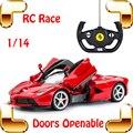Fãs Presente 1/14 RC carro Elétrico Deriva Carro de Controle Remoto Roadster Modelo Brinquedos De Corrida Dos Homens Do Favor Do Veículo Que Pode Abrir Porta Asa presente