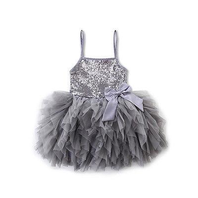 Pudcoco Baby Kids Girls Sukienki Summer Lace Bowknot Cekiny Tulle - Ubrania dziecięce - Zdjęcie 4