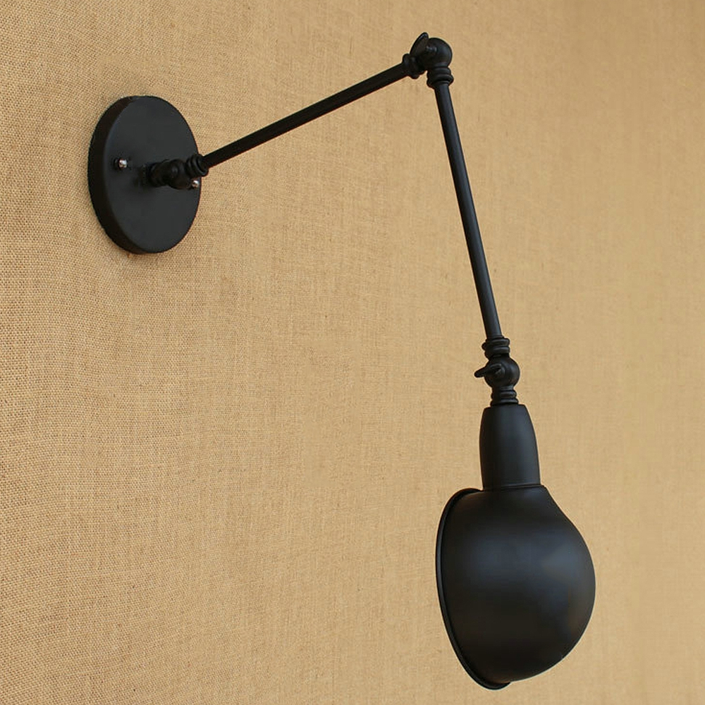 AC100 240 Loft Wall sconces lamp three arms adjustable study ...