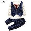 LZH 2017 New Autumn Spring Baby Boys Clothes Sets Toddler Boys Clothing Gentleman T-shirt+Pants Kids Sport Suit Children Clothes