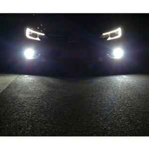 Image 5 - 2PCS Super Bright H3 LED Fog Light Bulb Yellow White 2000 Lumens 3000K 6500K LED COB Auto Car LED Fog Lamp Replacement 12V 24V
