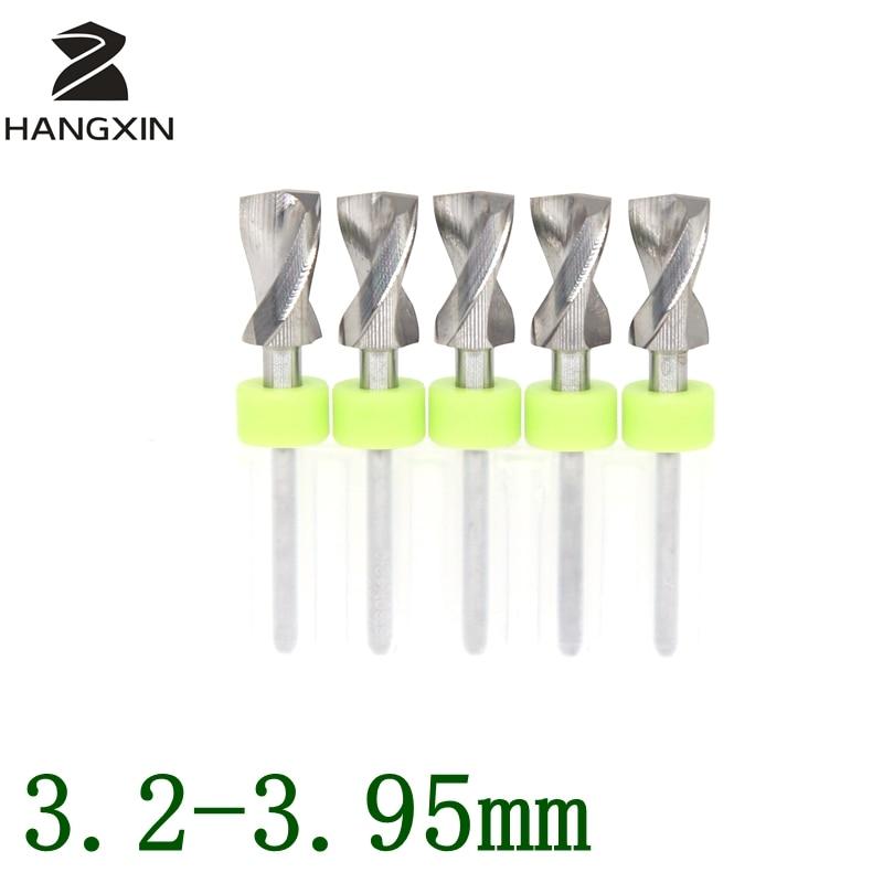 3,2-3,95 mmPCB puurikomplekt metallist CNC ruuter puidutöötlemise trükkplaadi mikrograveerimise tööpinkide tarvikud 5PCS