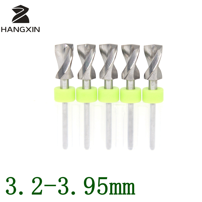 3.2-3.95mmPCB Kit de taladro Enrutador CNC de metal Carpintería Placa de circuito impreso Micrograbadora Máquina herramienta de grabado Accesorios 5PCS