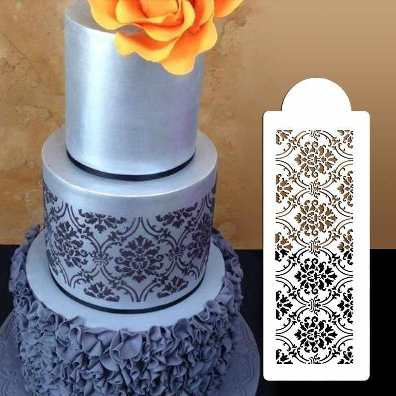 Lace Cake Decorating Tools Flowers Suger craft Stencil Spray Art Molds DIY Candy Template Mold Fondant Stencil For Cake Suppies