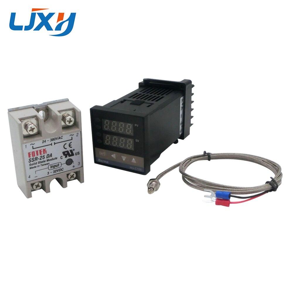 Image 5 - Цифровой PID контроль температуры Лер термостат REX C100 Тип K термопары зонд SSR реле для контроля температуры нагревателя-in Запчасти для электроводонагревателей from Бытовая техника