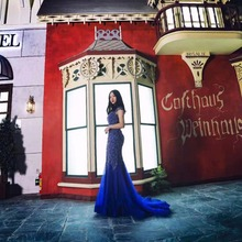 Finove Evening Dress 2019 Long Royal Blue Floor Length