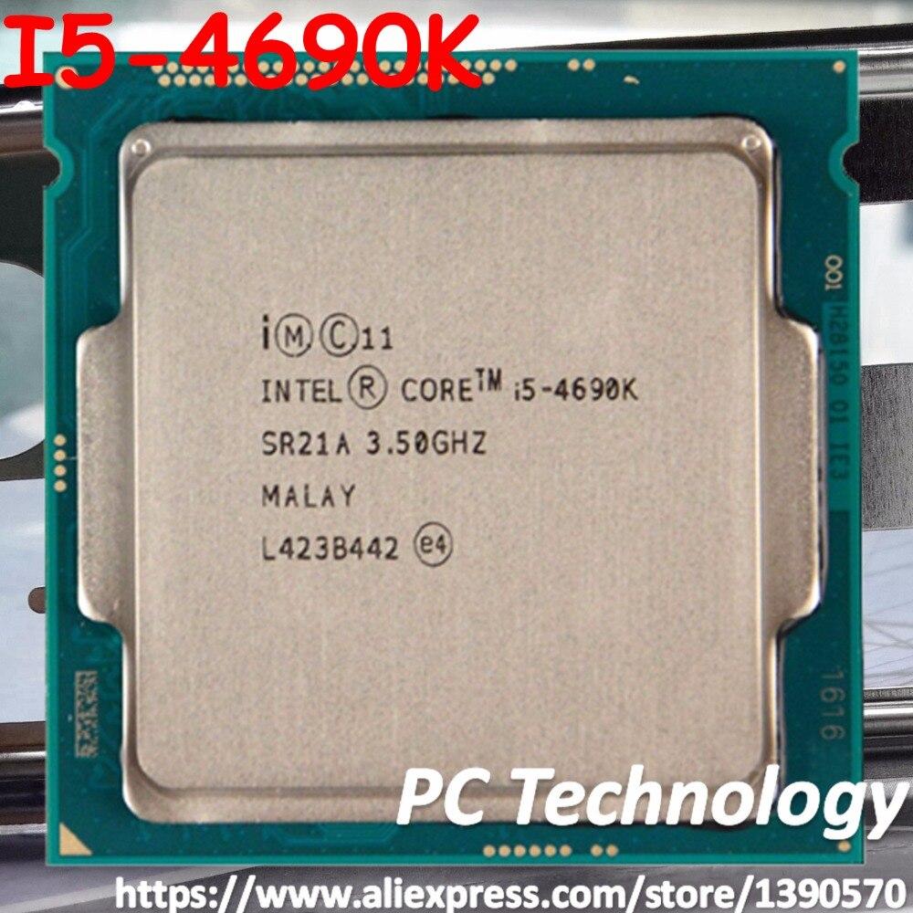US $153 0 |Original Intel Core I5 4690K SR21A CPU 3 50GHz 6M 84W LGA1150  Quad core Desktop I5 4690K processor Free shipping-in CPUs from Computer &