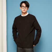 METERSBONWE New Autumn Winter Men Sweaters Long Sleeve Pullover Solid Color Fashion Korean Teen Sweater