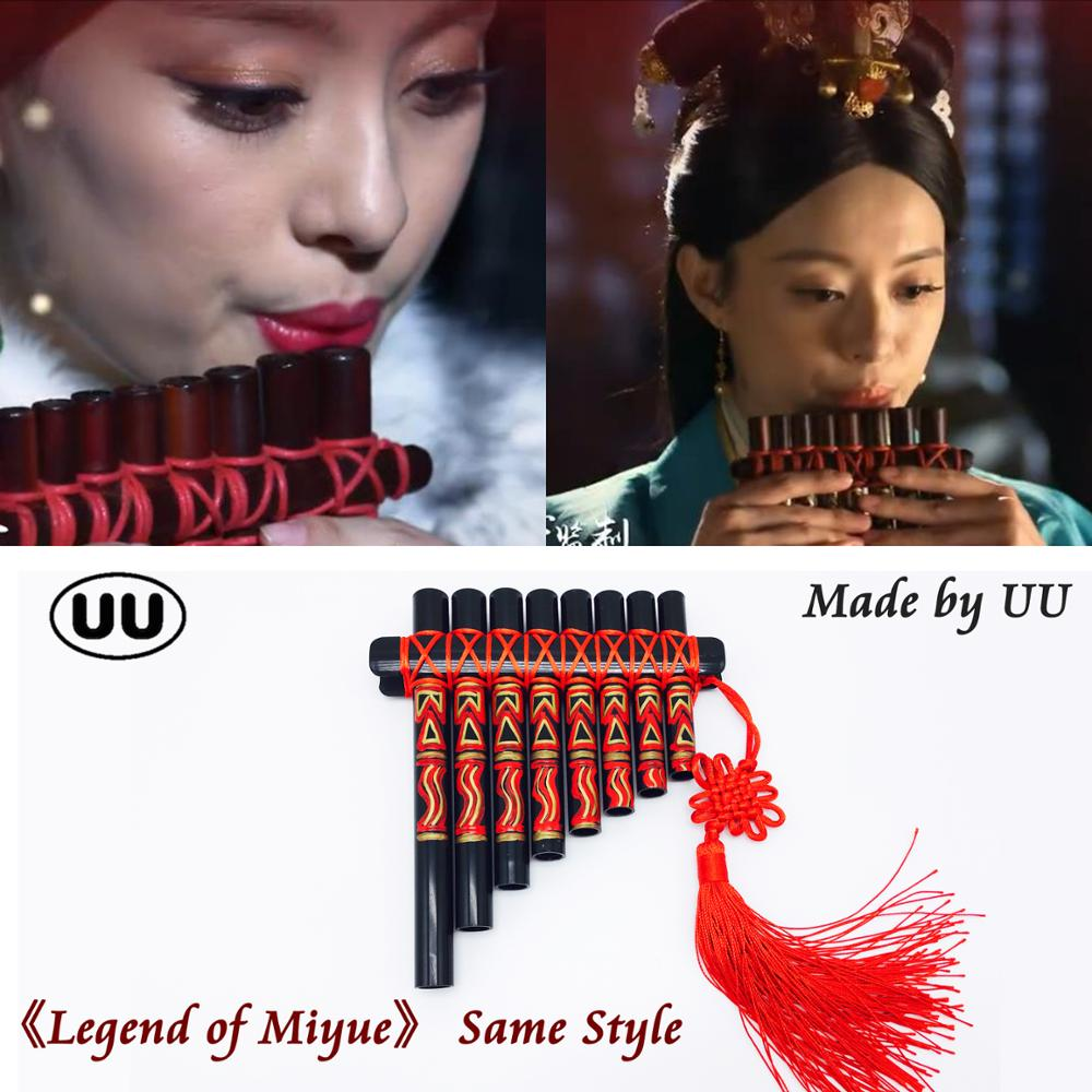 UU Pan Flute Flauta 8 Pipes Panpipes ABS Plastic Chinese style PanFlute Handmade Kids DIY Pan Pipe Woodwind Musical Instruments