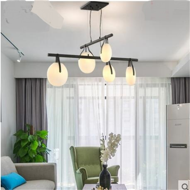Nordic simple personality pendant lights bedroom art small led lamp creative living room restaurant lamp pendant lamp AP8081109 chinese style classical wooden sheepskin pendant light living room lights bedroom lamp restaurant lamp restaurant lights