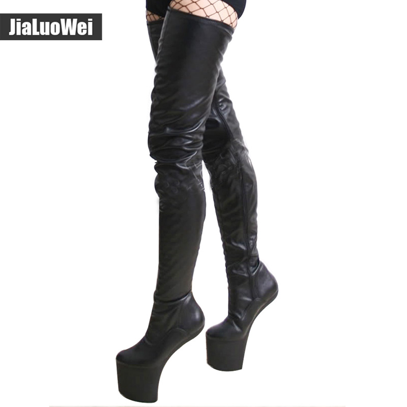 Fashion Women special boots Sexy Female Over-the-Knee Boots High-heeled Dance shoes New Design High platform boots PU leather high heeled women s high heeled shoes sexy club pole dancing boots knee high waterproof platform 15 cm