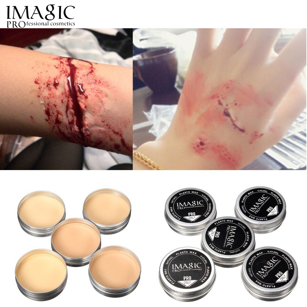 Imagic halloween makeup fake scar wax party cosplay for How to make fake skin for tattooing