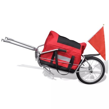 VidaXL 2-in-1 Trailer With A Sturdy Wheel Stable And Durable Multifunction Bike Trailer Or Stroller With Handles 2 In 1 Trailer