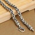 6 мм настоящее серебряное ожерелье таиланд урожай 925 серебряное ожерелье ручной работы стерлингового серебра Neckace человек ожерелье прохладный ожерелье