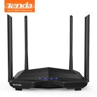 Tenda AC10 1200Mbps Wireless 2.4G+5G WiFi Router 1GHz CPU+128M DDR3 Gigabit Ports 4*6dBi High Gain Antennas, Smart APP Manage