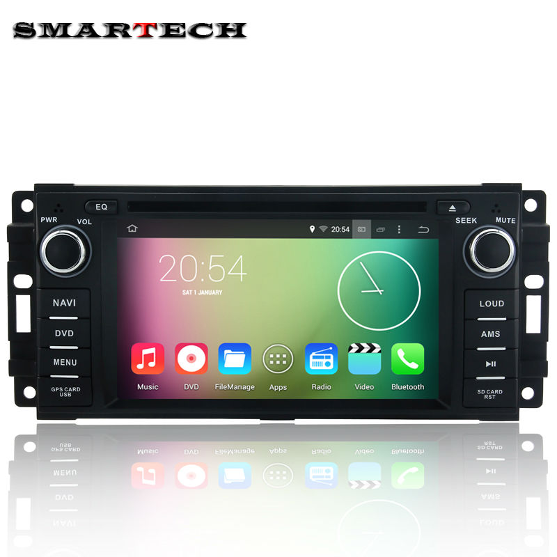 car dvd gps autoradio 2 din Quad-Core Android for <font><b>jeep</b></font> Wrangler Grand Cherokee Compass Commander DODGE Chrysler Sebring 300C