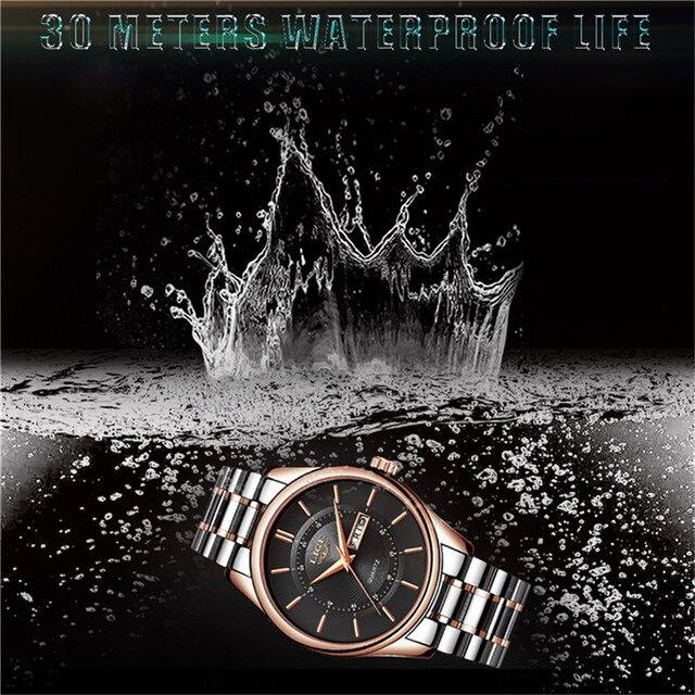 Lige Luxury Fashion Dress Waterproof Men Quartz Watches 3