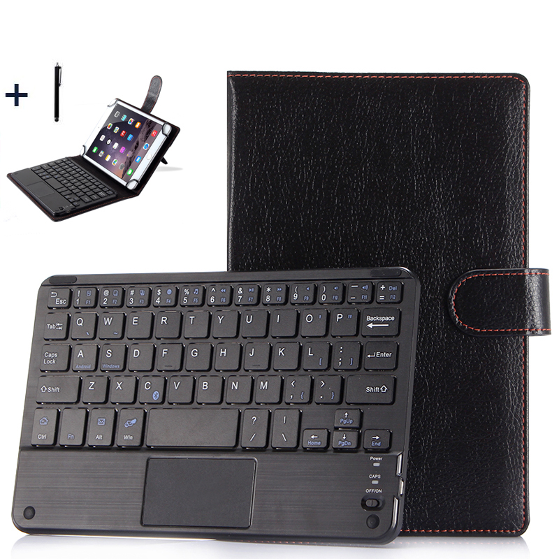 For Huawei 7/8 inch Tablet Universal Wireless Bluetooth Keyboard Case For ASUS Lenovo 8'' Tablet Flip Leather Stand Cover+Stylus universal 7 inch tablet case for huawei mediapad 7 youth 2 s7 721u for asus memo pad hd 7 me173x flip stand leather cover y2c43d